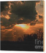 Light Beyond The Clouds Wood Print
