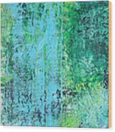 Light Blue Green Abstract Explore By Chakramoon Wood Print