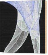 Light Blue Silk Scarf Wood Print