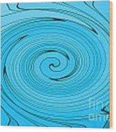 Light Blue Wood Print
