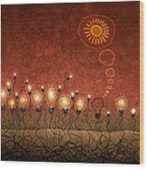 Light Bulb God Wood Print by Gianfranco Weiss