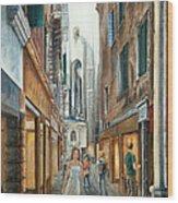 Light From San Salvador Merceria Del Capitello San Marco Venezia Wood Print