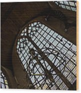 Light - Arched Windows And Golden Chandeliers Wood Print