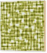 Light Green Abstract Wood Print by Frank Tschakert