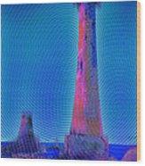 Light House At Sunset 1 Wood Print