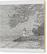 Light House On San Juan Island Lime Point Lighthouse Wood Print