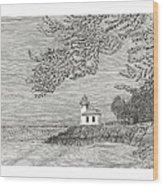 Light House On San Juan Island Lime Point Lighthouse Wood Print