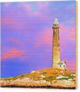 Light House Onthatcher Island Wood Print