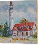 Light House, Wisconsin  Wood Print