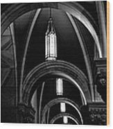 Light In The Basilica Wood Print