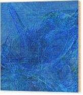 Light It Up Blue Wood Print