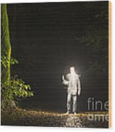 Light Man Wood Print