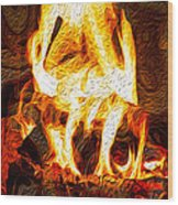 Light My Fire I Wood Print