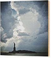 Light Of Liberty Wood Print
