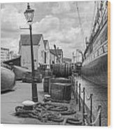 Light Of The Dock Wood Print