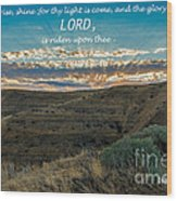 Light Of The Lord Wood Print