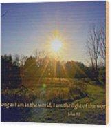 Light Of The World Wood Print