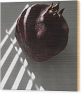 Light On Pomegranate Wood Print by Eileen Shahbazian