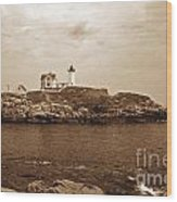 Light On The Nubble Wood Print by Skip Willits