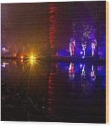 Light Reflections Wood Print by Andrew Lalchan