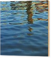 Light Reflections On The Water By A Dock At Aransas Pass Wood Print