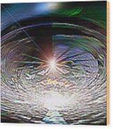 Light Roulette  V3 Wood Print by Rebecca Phillips