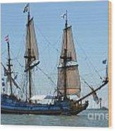 Light Sails Wood Print
