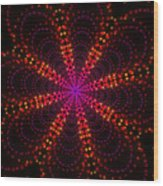 Light Show Abstract 4 Wood Print