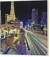 Light Speed Vegas Wood Print