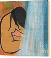 Light Surrender Wood Print by Hilda Lechuga