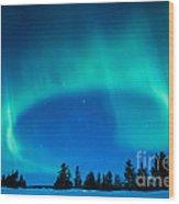 Light Swirl On Rainy Lake Wood Print