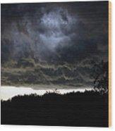 Light Through The Storm Wood Print