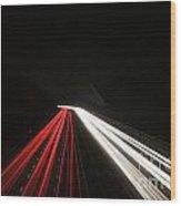 Light Trails Wood Print