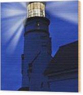 Light Up The Sea Wood Print