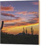 Light Up The Sky Southwest Style  Wood Print