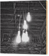 Lightbulbs Wood Print