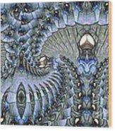 Lighted Cavern Wood Print
