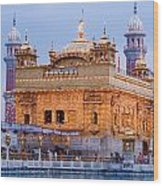 Lighted Golden Temple Wood Print