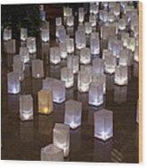 Lighted Lantern Bags Wood Print