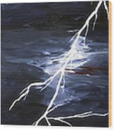 Lightening Bolt Painting Fine Art Print Wood Print