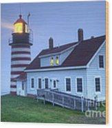 Lighthose Wood Print