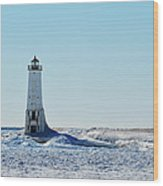 Lighthouse And Winter Wood Print