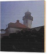 Lighthouse At Alki Beach 2 Wood Print