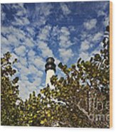 Lighthouse At Bill Baggs Florida State Park Wood Print
