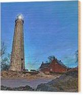 Lighthouse At Lighthouse Point Park Wood Print
