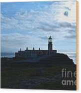 Lighthouse At Neist Point Wood Print