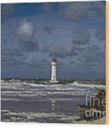 lighthouse at New Brighton Wood Print