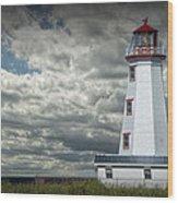 Lighthouse At North Cape On Prince Edward Island Wood Print