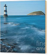 Lighthouse At Penmon Point Wood Print