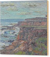 Lighthouse At Point Cabillo  Wood Print